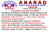 Anarad İstanbul Merkezli Ortak Telsiz Çevrimi Duyurusu – 28.12.2016
